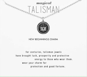 Magical Talisman Lotus Style New Beginnings Charm Silver Style Wish Necklace