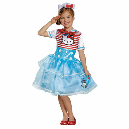 New Girls size small S 4-6 HELLO KITTY Halloween costume dress up play sailor