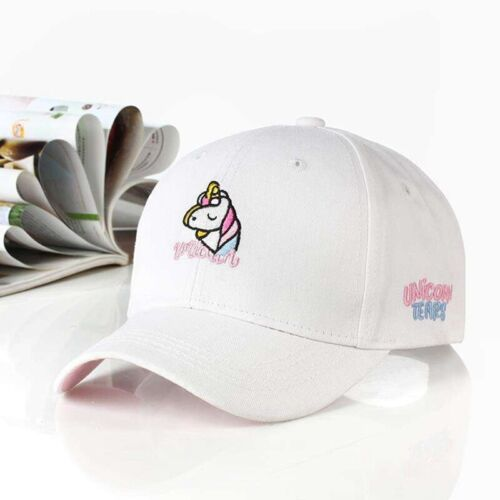 Cotton Girls Rainbow Unicorn Baseball Cap Pink Sun Hat 52-54CM Pretty #ZD