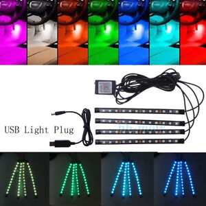 16Color-RGB-LED-Interior-Atmosphere-Footwell-Strip-Light-USB-Charger-APP-Control