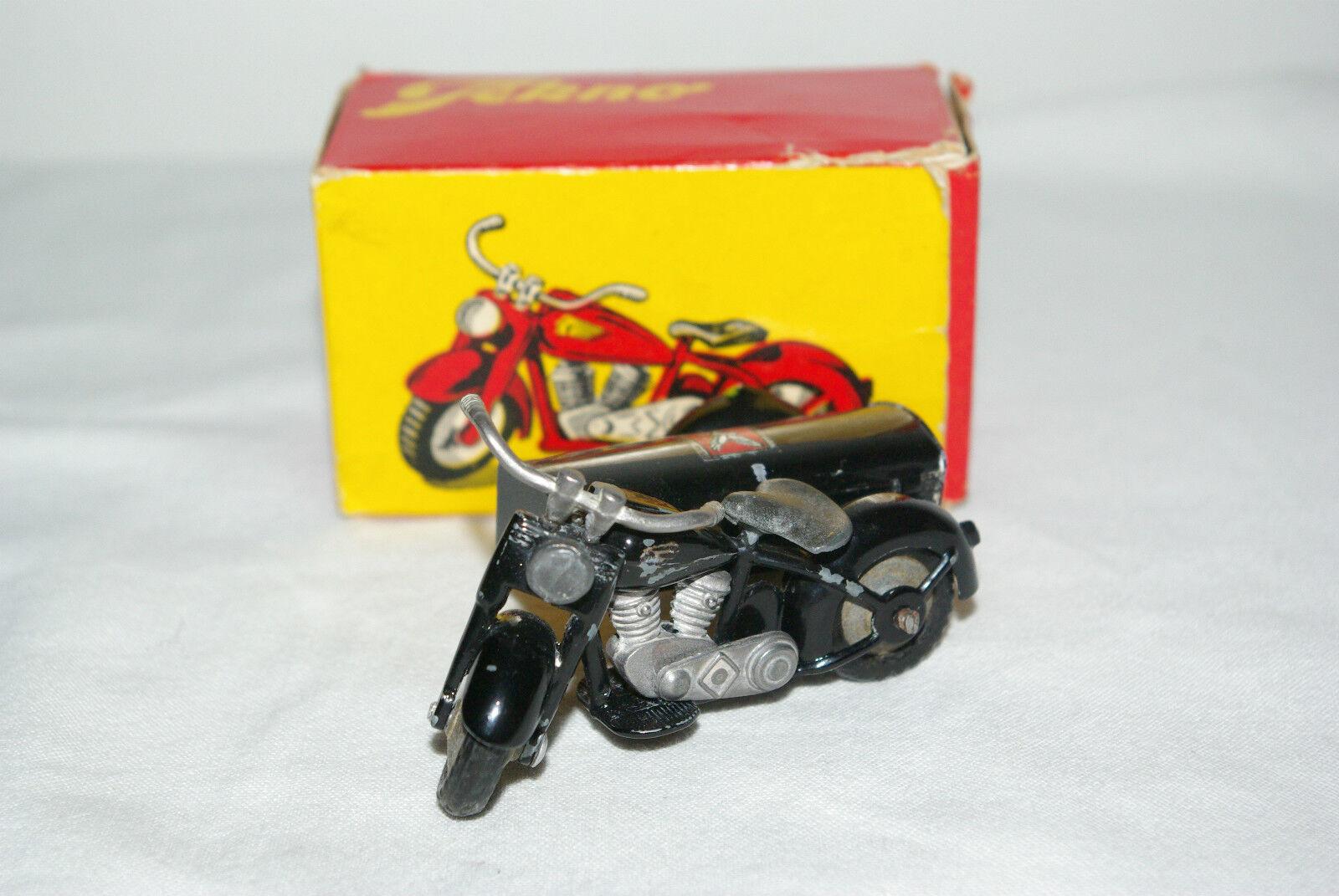 TEKNO DENMARK 764 HARLEY DAVIDSON MOTOR CYCLE WITH SIDECAR NMIB RARE SELTEN RARO
