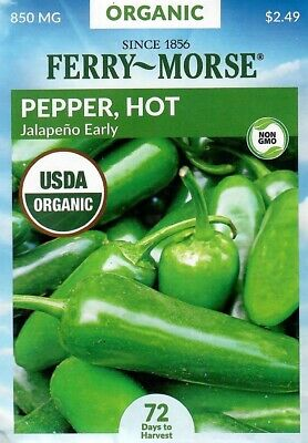 Pepper Jalapeno Early Hot Organic Vegetable Seeds Ferry Morse 850mg 12 21 11192462170 Ebay