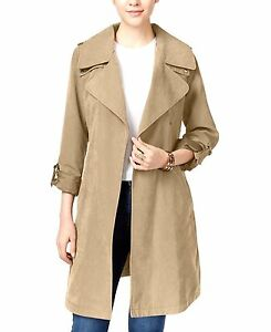 Laundry-by-Design-Draped-Belted-Asymmetrical-Trench-Women-039-s-Coat-NWT-MSRP-150