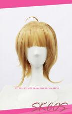 TSUBASA Sakura Cosplay wig costume Gold colour