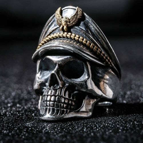 Fashion Women Men Vintage Gothic Punk Skull Ring Cool Men/'s Band Rings Jewelry