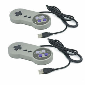 2x-Controlador-de-juego-de-Nintendo-SFC-Gamepad-para-Windows-PC-Mac-USB-Super-famicom