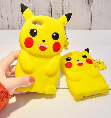 3D Cartoon Pikachu Pokemon GO Phone Case Silicon Cover For iPhone SE 5 6 6S Plus