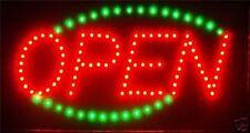 Animated LED Neon Light  Open Sign Running Blue LED go Green L33