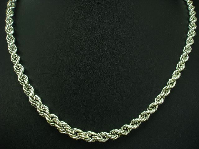 835 silver KORDEL COLLIER   ECHTsilver   47,3 cm   14,3 g