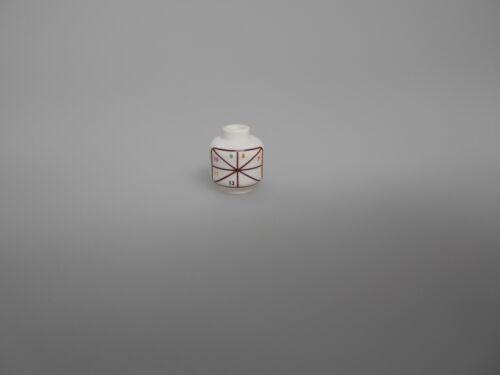 Lego® Testprint Kopf weiß bedruckt für Einstellung bedruckung der Köpfe  Neu