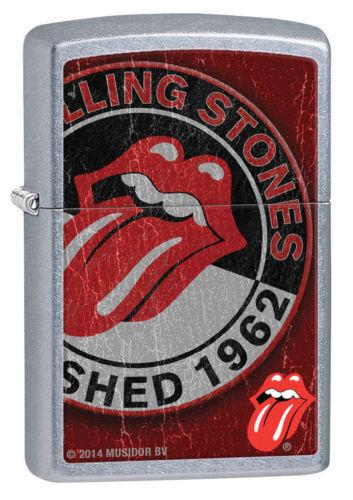 Zippo 28843, Rolling Stones-Tongue Logo, Street Chrome, ***6 Flints/Wick***