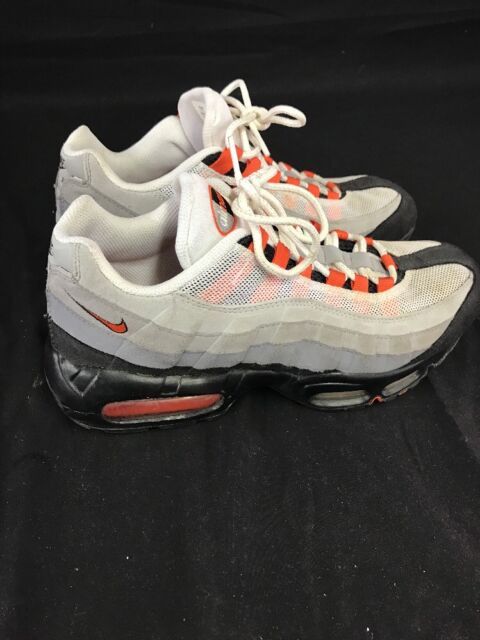 new york new lifestyle buy best 2009 Nike Air Max 95 White Team Orange Grey Size 9