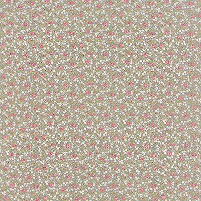 18621 17 MODA Fabric ~ BESPOKE BLOOMS ~ Brenda Riddle Cobblestone by 1//2 yd