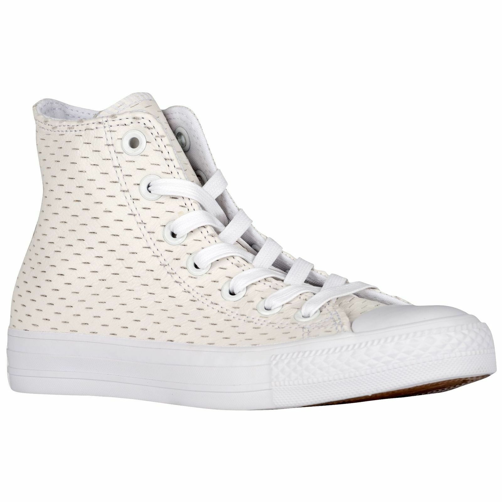 Converse All Star Pelle High White Out Pack White/Gold 153115C Uomo Shoe