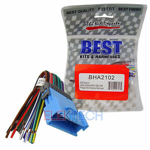 bha2102 aftermarket radio replacement wire harness for 24 pin gm image is loading bha2102 aftermarket radio replacement wire harness for 24