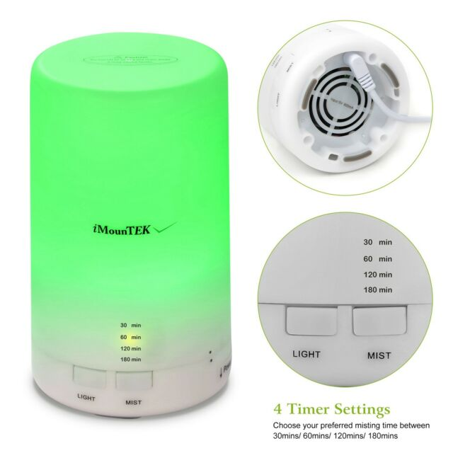 200ML LED Light Humidifier Air Aroma Diffuser Purifier Aromatherapy Atomizer