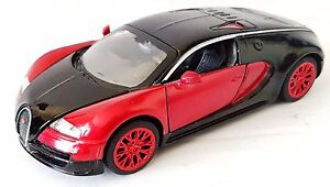 Diecast-Model-Sports-Luxury-Pull-Back-Toy-Car-1-43-Scale-Black-amp-Red-Doors-Open