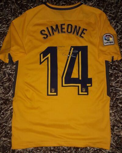 Fußball-Trikots Cholo SIMEONE PROOF Signed shirt Atletico de Madrid Inter Argentina firmado