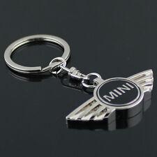 Key Chain Metal Keychain Key Ring oval frame Black for Mini Cooper