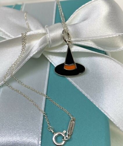 Tiffany & Co. Silver 925 Enamel Witch Hat Hallowee