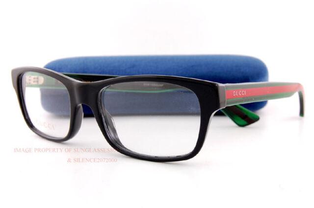 e8bc002fb7c2 Gucci Gg0006o Optical Frame 002 Black Green Transparent 53 Mm for ...