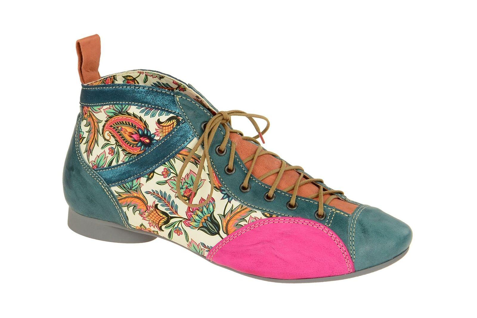 Think Schuhe GUAD blau Damen Stiefeletten bequeme Stiefelette 2-82288-79 NEU