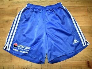 Adidas-Vintage-Nylon-Shiny-Fussball-Running-Retro-80s-90s-Shorts-Sprinter-d5-S
