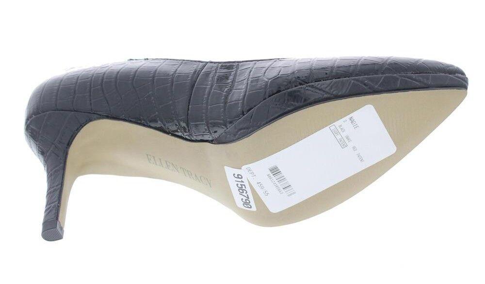 New New New ELLEN TRACY damen Leather Heel Slip On Embossed Platform Pump schuhe Sz 8.5 M b90367