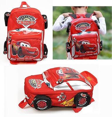 Disney Pixar 95 Cars McQueen Kids Backpack School Bag Child Girl Boy's Xmas Gift