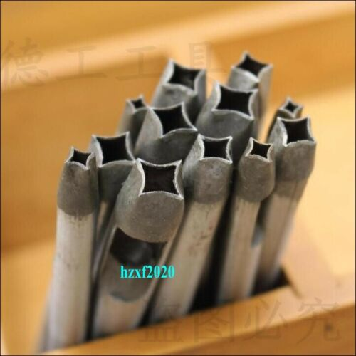 Leather Craft Bend Four Corners Punch Hole Tools Craft DIY Carbon Steel Puncher