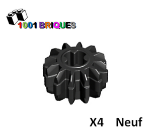 Gear 12 Tooth Double Bevel Black Lego 32270 x4 Technic