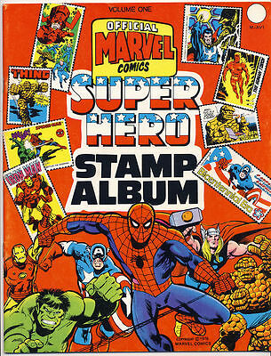 OFFICIAL MARVEL COMICS SUPER HERO STAMP ALBUM #1 VG Neal Adams, Postage, 1976