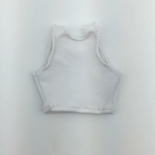 1//6 White Soldier Vest Weskit Clothes for 12/'/' Hot Toys//Phicen Figures Dolls