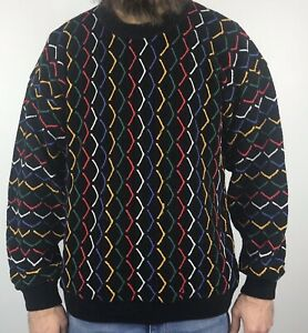 Vintage-90s-Tundra-Canada-Pullover-Herren-M-Medium-Pullover-Biggie-Bill-Cosby-COOGI-Style