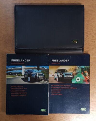 LAND ROVER FREELANDER HANDBOOK OWNERS MANUAL WALLET 2004-2006 PACK G-390