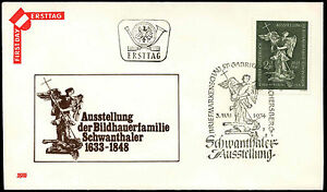 Austria-1974-Sculptures-By-The-Schwanthaler-Family-FDC-First-Day-Cover-C36407