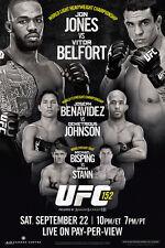 Poster UFC Vitor Belfort vs Anderson Silva Wall Art