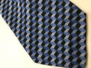 Paul-Smith-Cravate-9cm-ILLUSION-OPTIQUE-MODELE-100-Soie-Made-in-Italy