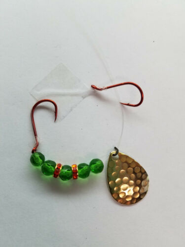 best seller 20 worm harnesses walleye-kokanee green beads red wedding ring