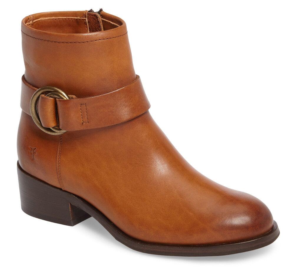 NEW FRYE Donna Kristen Harness Short Brown Pelle Boot Bootie Size 10 B #78093