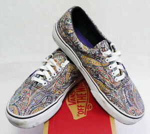 4e007b5b3777d6 Vans Era x Liberty of London Gray Paisley Low Top Sneakers size 7.5 ...