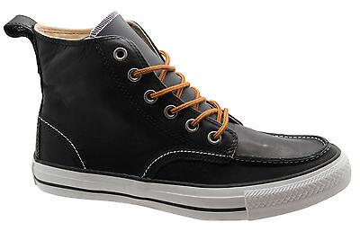 Converse Chuck Taylor Classic Hi Tops Herren Leder Stiefel schwarz 125647C M16 | eBay