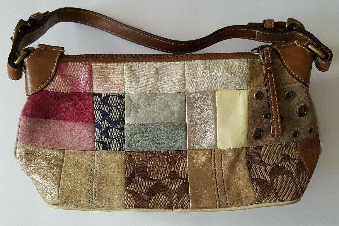 Vintage Coach Patchwork Purse - Very Nice Condit… - image 4