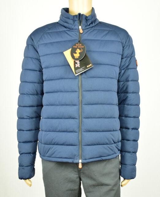 buy popular 73f0f 993ed Save the Duck Mens Navy Blue Pocketable Ultra Light Puffer Stretch Jacket XL