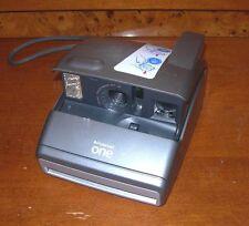 Vintage Gray Polaroid One (600 Film) Instant Photo Camera w/ Hand Strap *READ*