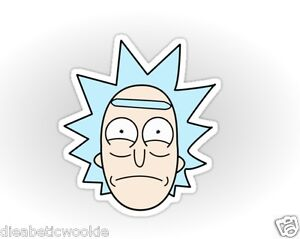 Rick and morty face burp sticker decal car laptop ebay for Rick and morty craft list