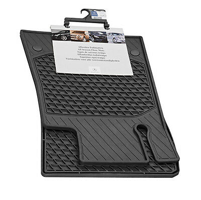 TuxMat Custom Car Floor Mats for Mercedes-Benz E-Class Coupe 2017-2021 Models Laser Measured Waterproof All Weather Largest Coverage The Ultimate Winter Mats Full Set - Black