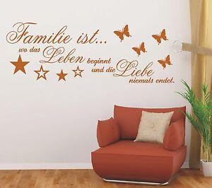X183-Wandtattoo-Spruch-Familie-wo-das-Leben-Liebe-Wandsticker-Wandaufkleber