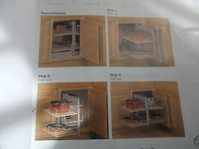KV SLIDE OUT BASE BLIND CORNER KITCHEN STORAGE RIGHT SHORT UNIT FEBBCS R 15 FN