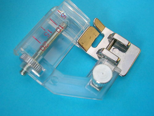 SEWING MACHINE CLIP ON BIAS BINDER FOOT FITS BROTHER JANOME SILVER JUKI TOYOTA